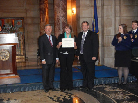 Beth Ebmeier honored at the capitol