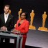 Chris Pine and Academy President Cheryl Boone Isaacs announce the 87th Academy Awards Nominations Announcement at the AMPAS Samuel Goldwyn Theater on Jan. 15, 2015 in Beverly Hills, Calif.