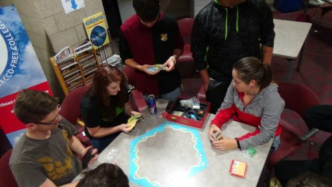 BCD Club members setting up Settlers of Catan. Photo by Mark Lange