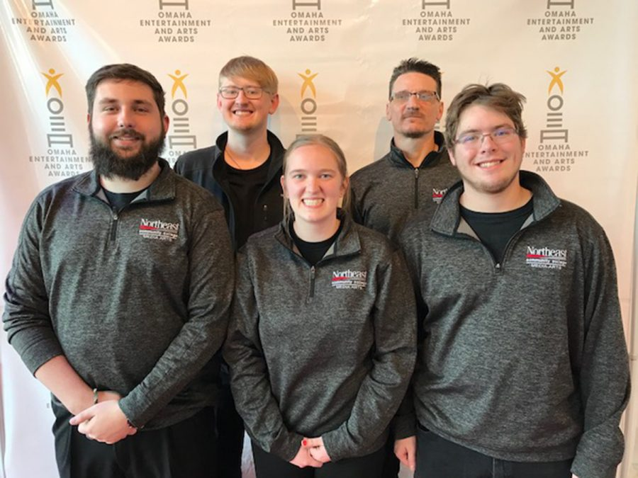 Northeast students work the OEAA's annual awards show for the third year