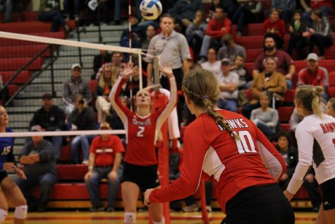 Northeast volleyball takes care of Hawkeye in four sets