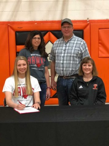 Chambers/Wheeler Central star signs with Northeast women's basketball