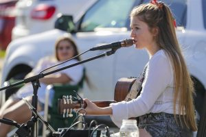 Two years ago, she competed on 'The Voice.' Now she's the star of a coronavirus block party