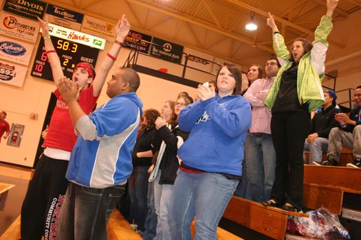 The crowd roars for the Northeast Hawks