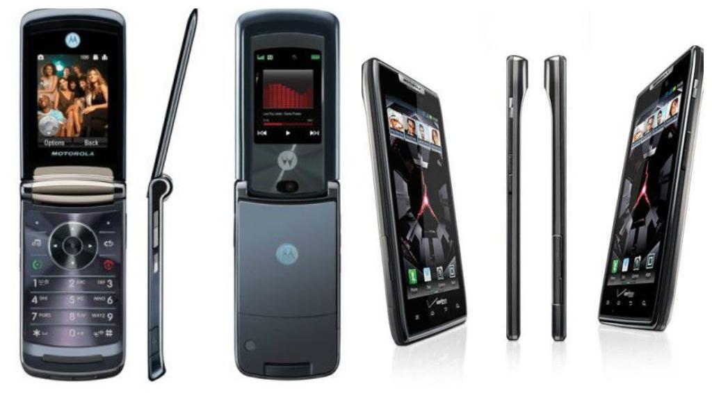 Old Motorola RAZR design vs. new Motorola RAZR design