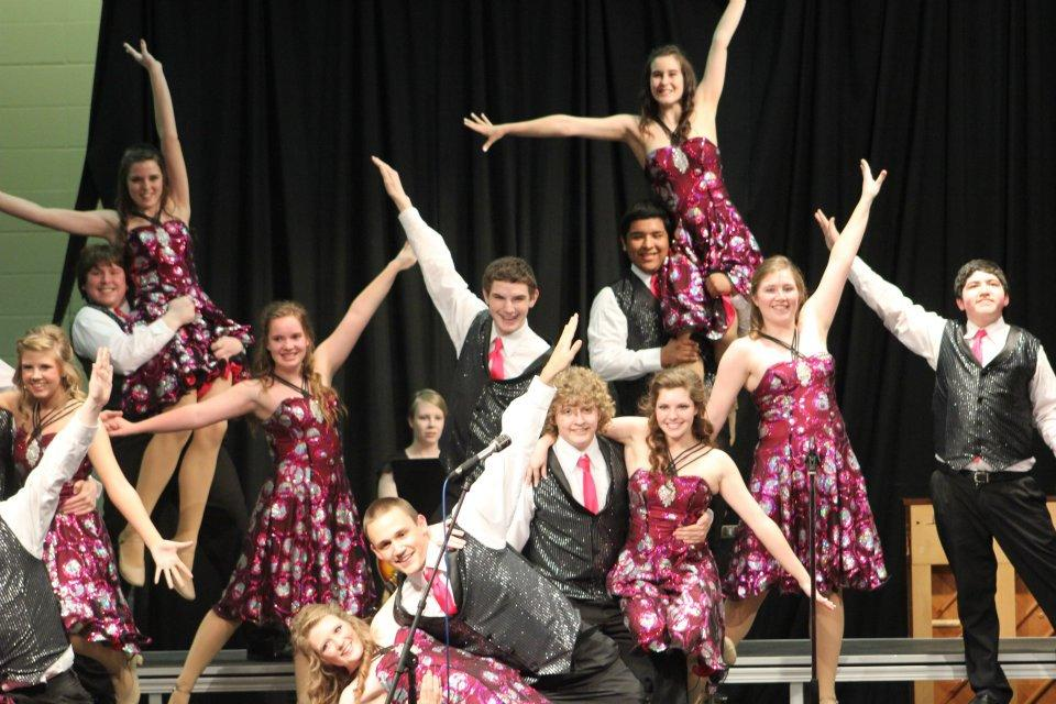 Norfolk High School Showstoppers during their performance.