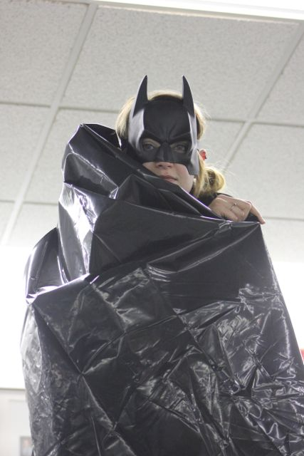 Where's Batman?  Find Batman on Campus and you could win a prize!