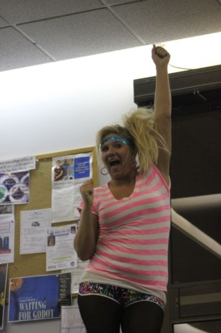 Find Cyndi Lauper look a like on Campus Yesterday!!!!