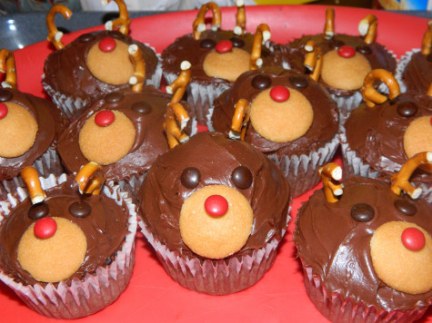 Christmas Goodies: Reindeer Cupcakes