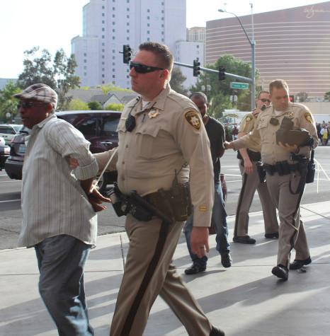 Taxi Driver Strike outisde Las Vegas Covention Center Tuesday Afternoon