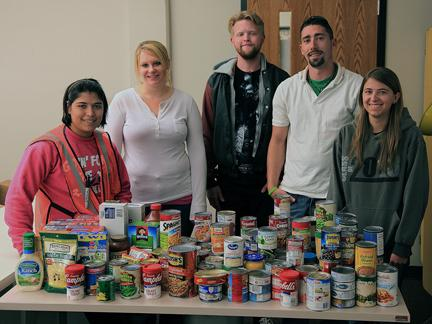 Northeast drafting students collect food for Norfolk Salvation Army