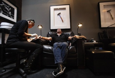 Putting the 'man' in manicure: New mani-pedi salon offers a completely macho experience
