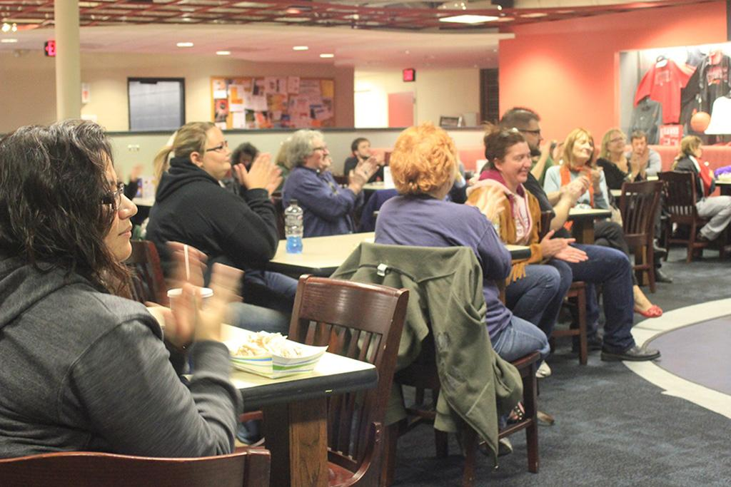 Hawks Landing Audience Applaud Visiting Writers