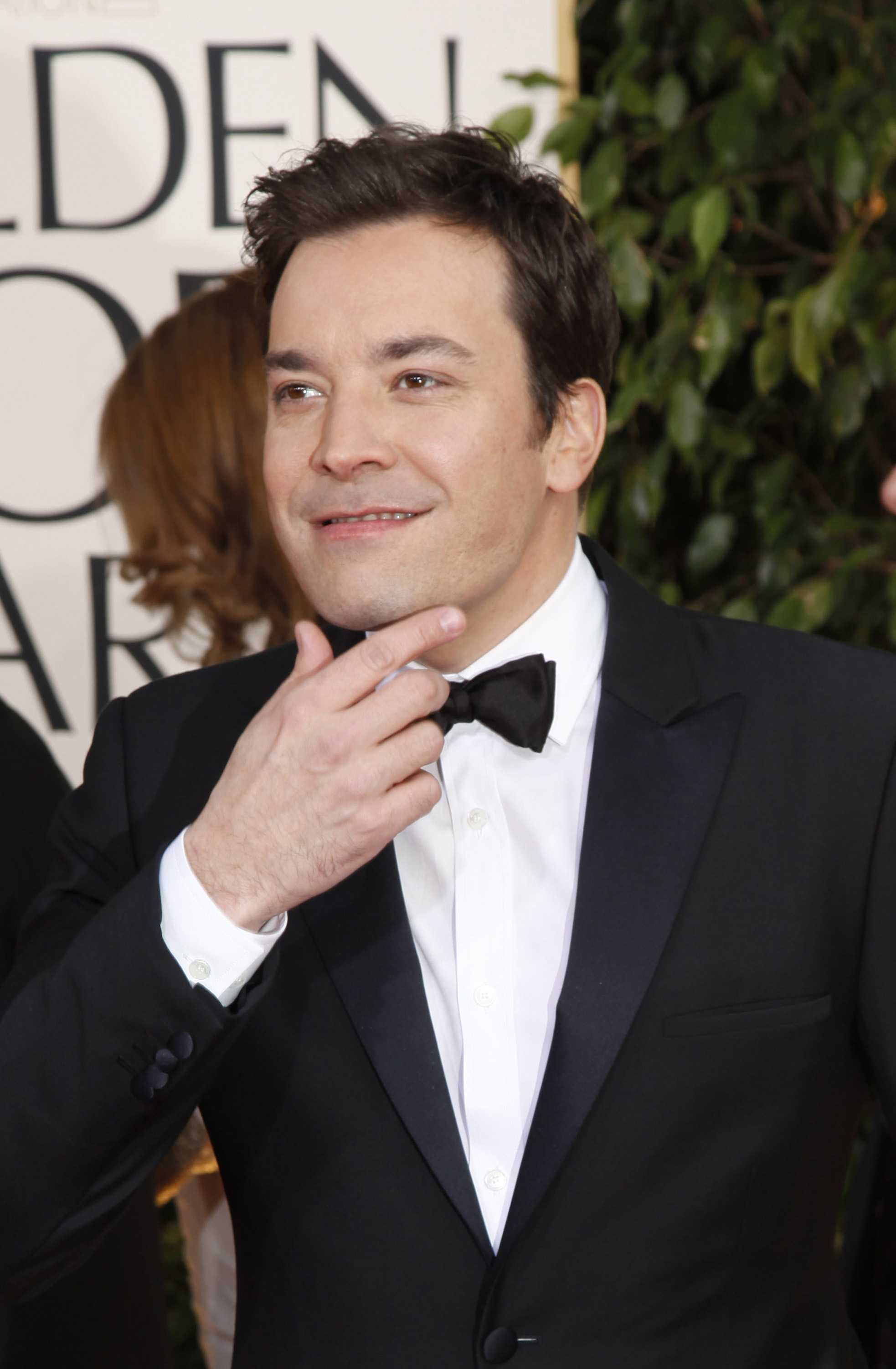 Jimmy Fallon arrives for the 70th Annual Golden Globe Awards show at the Beverly Hilton Hotel on Sunday, January 13, 2013, in Beverly Hills, California. (Kirk McKoy/Los Angeles Times/MCT)