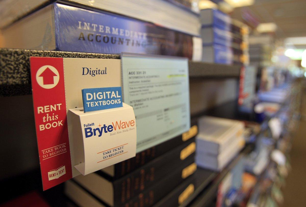 Students can rent, buy used, buy new or buy a digital copy of their textbooks at the Cal State Dominguez Hills bookstore in Carson, Calif., which is trying to provide more information to students about book costs and alternatives. (Allen J. Schaben/Los Angeles Times/MCT)