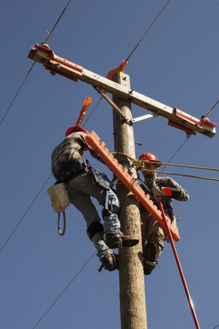 Utility Line Students Are Up In The Air