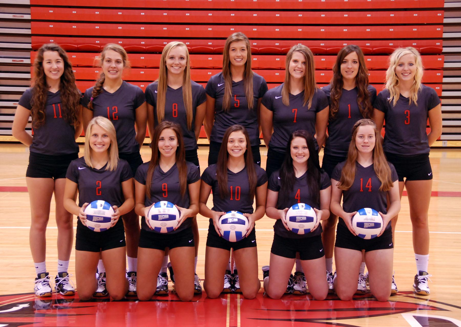 Members of the 2014 Northeast Community College volleyball team include (front row, l-r) Sammy Sullivan, Allen, student manager, Brittany Sullivan Allen, Kiara Lopez, Schuyler, Meagan Backer, Wayne, Kelsie Myers, Broken Bow, Maggie Earney Whitney, and Michelle Seagren, trainer.   Back row (l-r), Amanda Schultze head coach, Sarah Maxson Wayne, Morgan Uhlir, Norfolk, Sydney Whitmarsh, Arlington, Grace Ecklund, Overton, Taryn Luedtke ,Creston, Whitney Valasek, Palmer, Haley Roelle, Creston, and Sarah Novak, assistant coach. (Courtesy Photo)