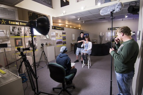 Northeast Digital Cinema students interview Elkhorn Valley Museum Education Director Jeana Ganskop