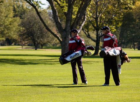 Hawks golfers play the Norfolk Country Club course during the Nebraska Intercollegiate Golf Tournament