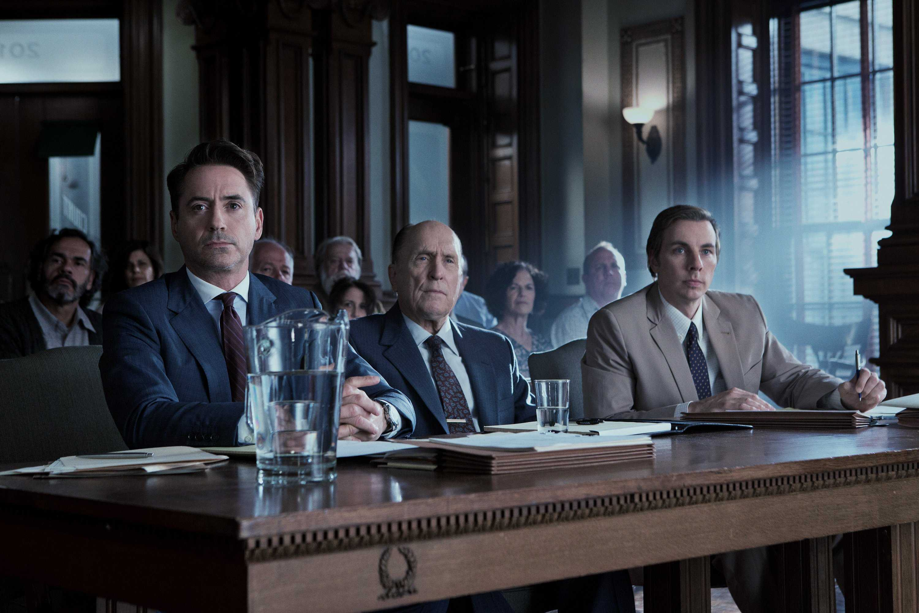 From left: Robert Downey Jr. as Hank Palmer, Robert Duvall as Joseph Palmer and Dax Shepard as C.P. Kennedy in Warner Bros. Pictures' and Village Roadshow Pictures' drama
