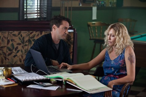 """Robert Downey Jr. as Hank Palmer, left, and Vera Farmiga as Samantha Powell in Warner Bros. Pictures' and Village Roadshow Pictures' drama """"The Judge,"""" a Warner Bros. Pictures release."""