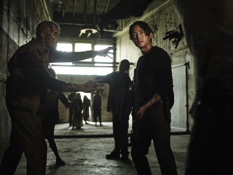 "Steven Yeun stars as Glenn Rhee in ""The Walking Dead."" Season five of AMC's hit show premieres on Sunday, Oct. 12, 2014."