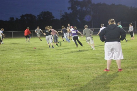 breakaway play during flag football game