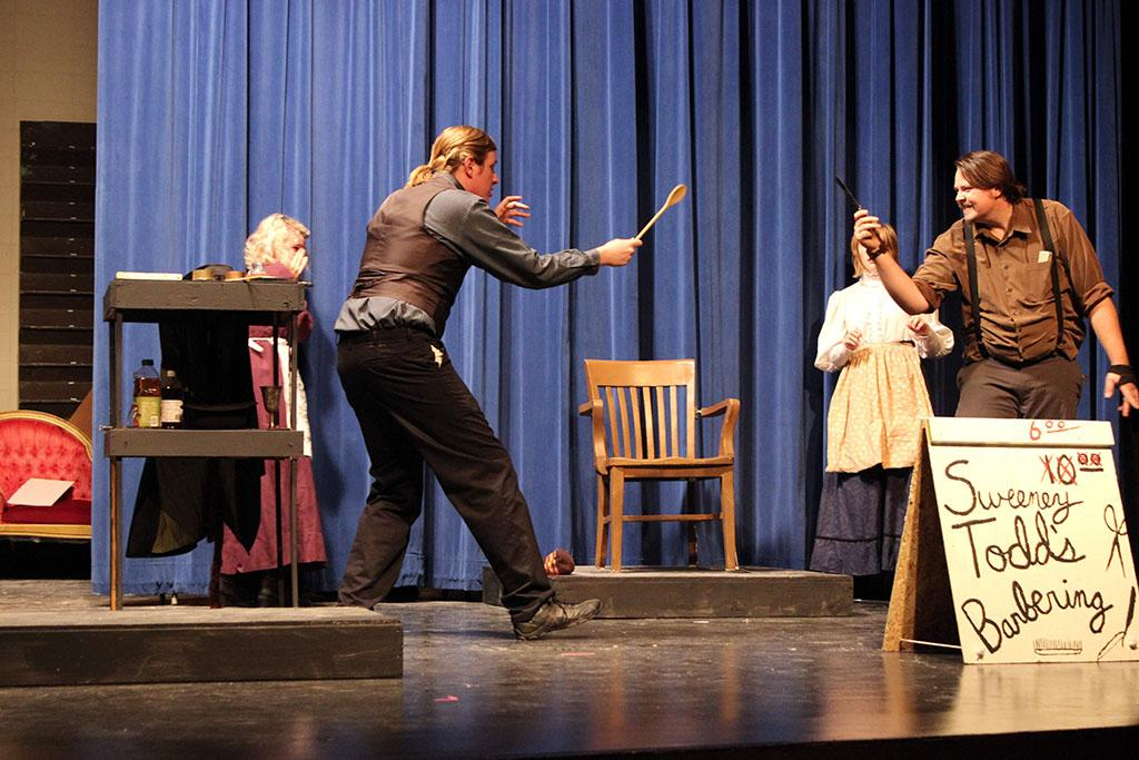 Sweeney Todd (Front Right)- Kai Weixelman Jack Heartright (Front Left) - Hadley Brikner Claudetta Mincey (Back Right) - Katie King Cherry Goodenough (Back Left)- Shawna Schaecher