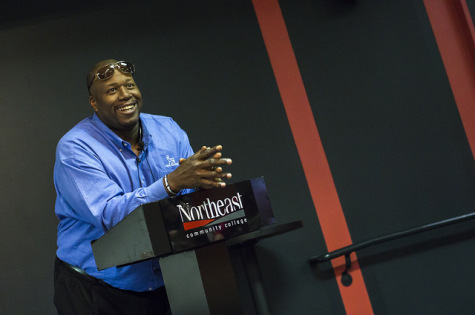 Former NFL Running Back Marcus Dupree Speaks At Northeast