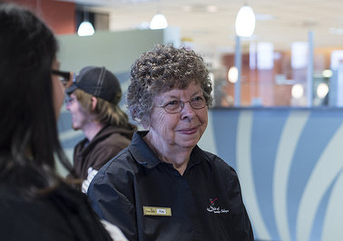 Kay Gilfert is a beloved figure in the Northeast Community College Dining Room