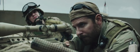"""American Sniper"" is up for Best Picture in the 87th Academy Awards. Kyle Gallner, left, as Goat-Winston and Bradley Cooper as Chris Kyle in Warner Bros. Pictures' and Village Roadshow Pictures' drama ""American Sniper."""