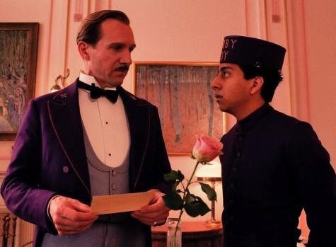 """ The Grand Budapest Hotel"" is nominated for Best Picture in the 87th Academy Awards. Ralph Fiennes (left) and Tony Revolori star in "" The Grand Budapest Hotel."""