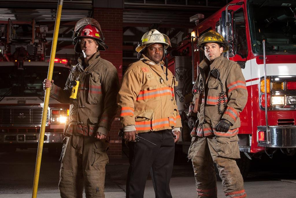 Dennis Schorr, Jr., Chief Terence Morris and CPTN Jerome Baudy star in A&E's new original series,