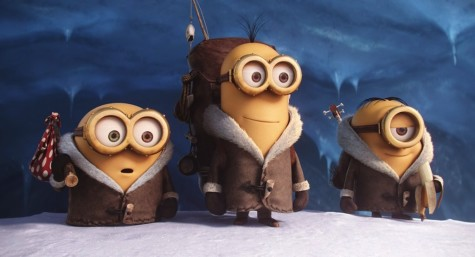 "The little yellow babblers from ""Despicable Me"" are the stars of the show in ""Minions,"" coming July 10."