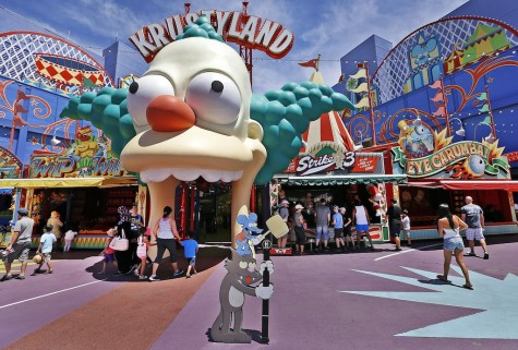 A look at the Simpsons scenery at Universal Studios Hollywood. (Al Seib/Los Angeles Times/TNS)