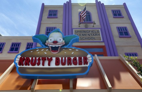 Krusty Burger is one of several eateries at Universal Studios Hollywood. (Al Seib/Los Angeles Times/TNS)
