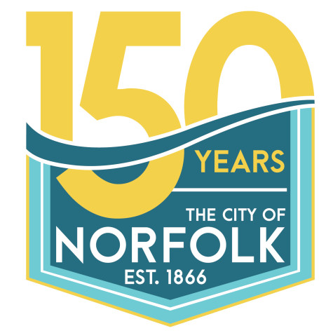 Northeast marketing coordinator designs Norfolk's 150th anniversary logo