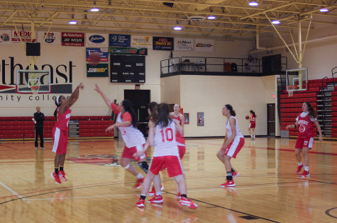 Lady Hawks practice Wednesday afternoon before their weekend scrimmage.