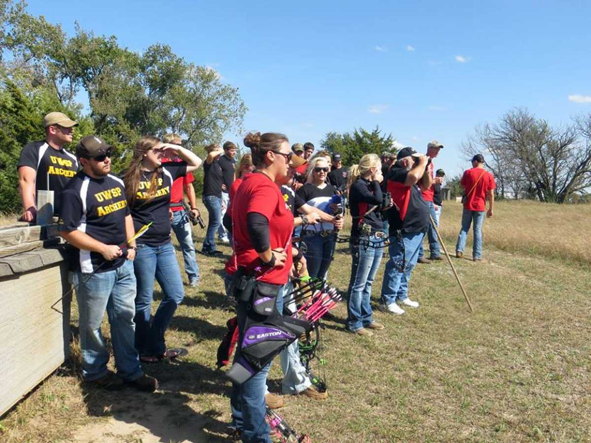 Archers from Northeast Community College, Wayne State College, the University of Nebraska-Lincoln and the University of Wisconsin-Stevens Point competed in a U.S. Collegiate Archery Association Tournament held recently at the Norfolk Archery Club range. (Courtesy Photo)