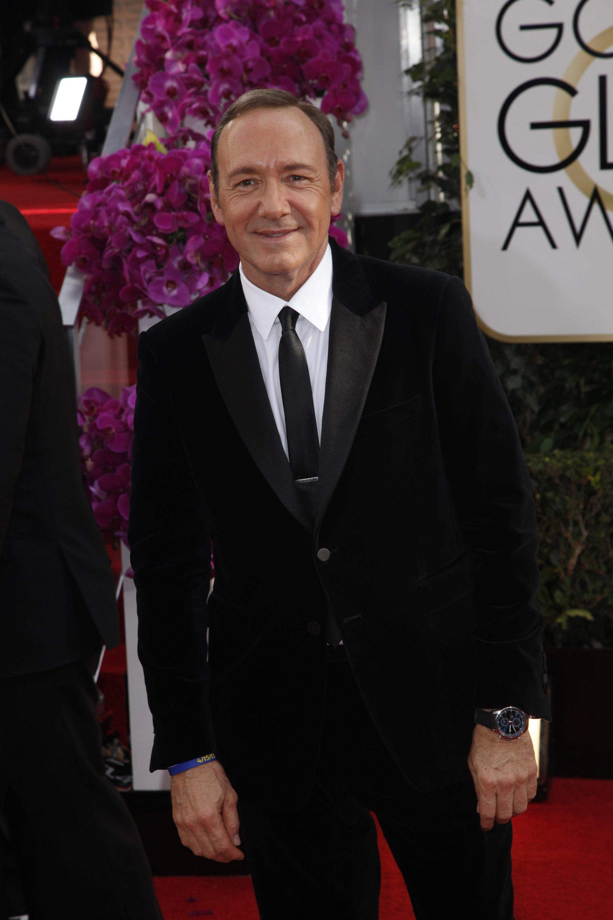 Kevin Spacey arrives at the 71st Annual Golden Globe Awards show at the Beverly Hilton Hotel on Sunday, Jan. 12, 2014, in Beverly Hills, Calif. (Kirk McKoy/Los Angeles Times/MCT)