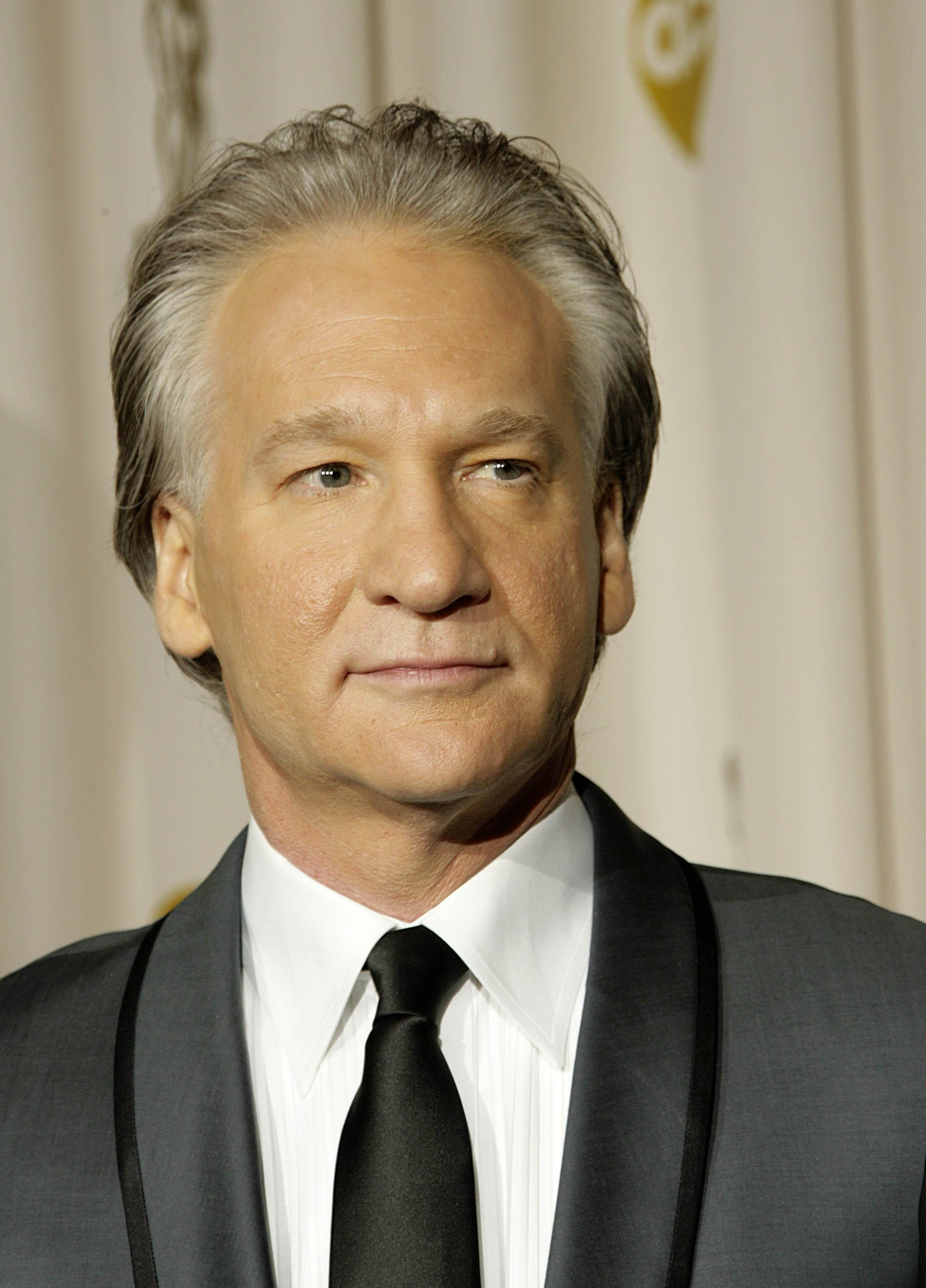 Bill Maher poses backstage at the 81st annual Academy Awards in Hollywood, California, Sunday, February 22, 2009. (Francis Specker/Landov/MCT)