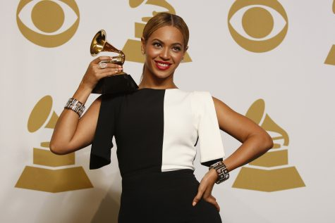 Beyonce backstage at the 55th Annual Grammy Awards at Staples Center in Los Angeles, California, on Sunday, February 10, 2013. Beyonce is up for Album of the Year in this year's Grammy Awards.  (Allen J. Schaben/Los Angeles Times/MCT)