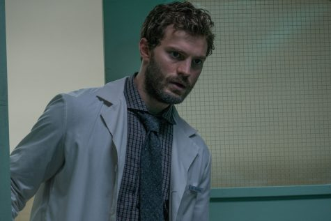 Jamie Dornan as Dr. Allan Pascal in a scene from the movie