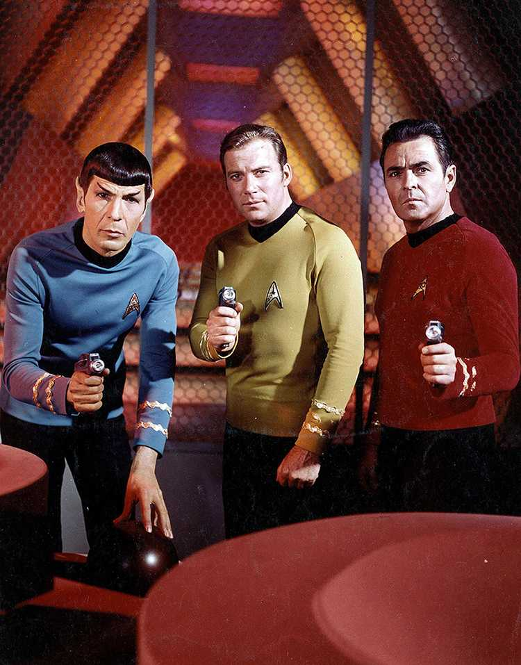 "Actors Leonard Nimoy, William Shatner and James Doohan from the original ""Star Trek"" series. The show premiered 50 years ago as one of the new fall shows on NBC's 1966-1967 schedule. (Paramount Pictures/Entertainment Pictures/Zuma Press/TNS)"
