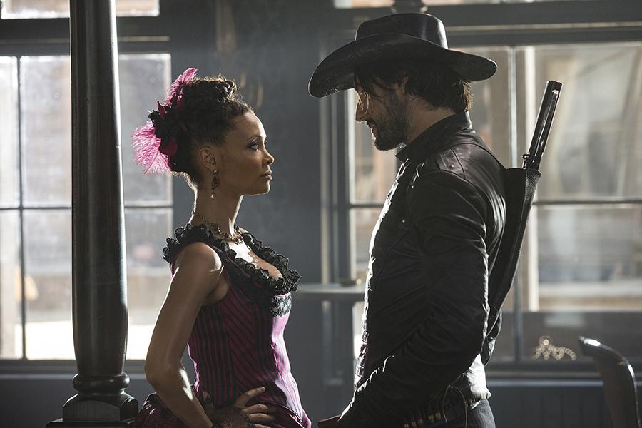 "Thandie Newton and Rodrigo Santoro in ""Westworld."" (John P. Johnson/HBO)"