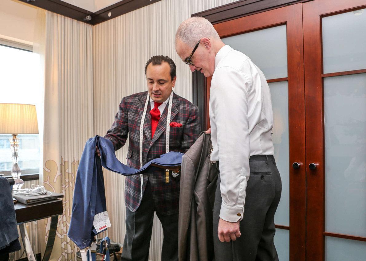 Savile Row tailor makes house calls in Philadelphia