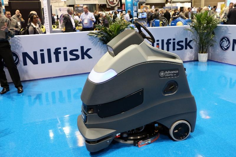 Nilfisk+and+Carnegie+Robotics+officials+debuted+their+new+robotic+%28driverless%29+floor-scrubber+at+the+industry+ISSA+trade+show+last+month+in+Chicago%2C+Ill.+%28Nilfisk%29