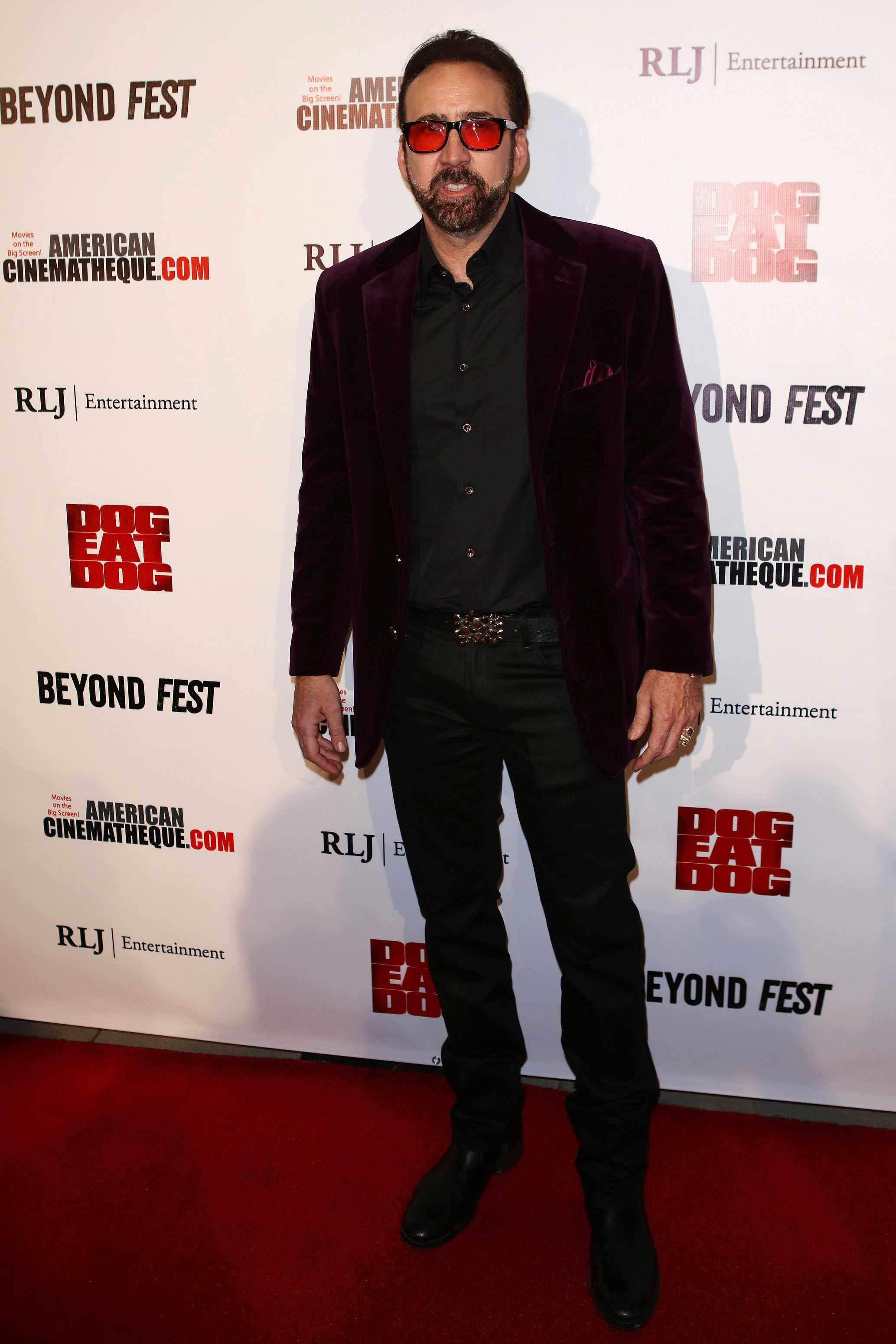 Nicolas Cage at the screening of 'Dog Eat Dog' held at the Egyptian Theatre on September 30, 2016 in Hollywood, Calif. (Art Garcia/Sipa USA/TNS)