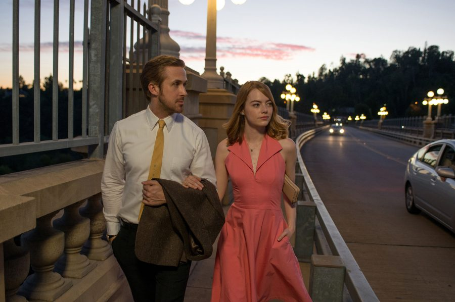 Ryan+Gosling+as+Sebastian+and+Emma+Stone+as+Mia+in+a+scene+from+the+movie+%22La+La+Land%22+directed+by+Damien+Chazelle.+%28Dale+Robinette%2FLionsgate%2FTNS%29