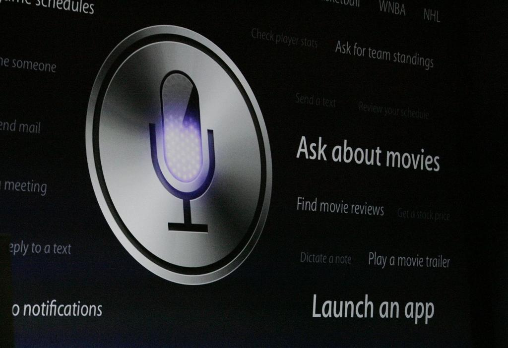 The Siri logo is shown on the big screen during a demo at the annual Worldwide Developers Conference in San Francisco in 2012. A new study suggests that Siri and other smartphone personal assistants can't adequately help users with issues of mental health, interpersonal violence and physical health. (Gary Reyes/Bay Area News Group/TNS)